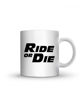ride or die printed mug